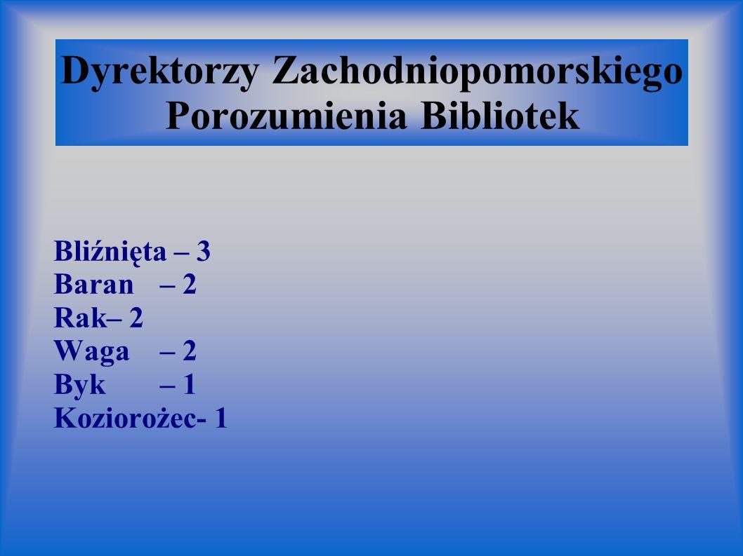 Dyrektorzy Zachodniopomorskiego Porozumienia Bibliotek