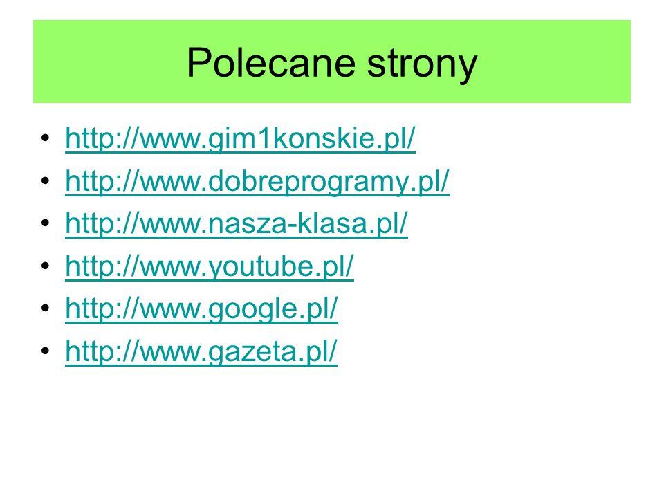 Polecane strony http://www.gim1konskie.pl/