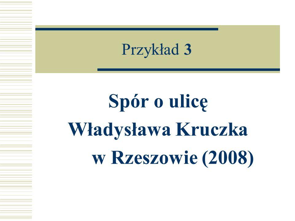 Spór o ulicę Władysława Kruczka w Rzeszowie (2008)