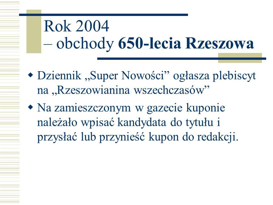 Rok 2004 – obchody 650-lecia Rzeszowa