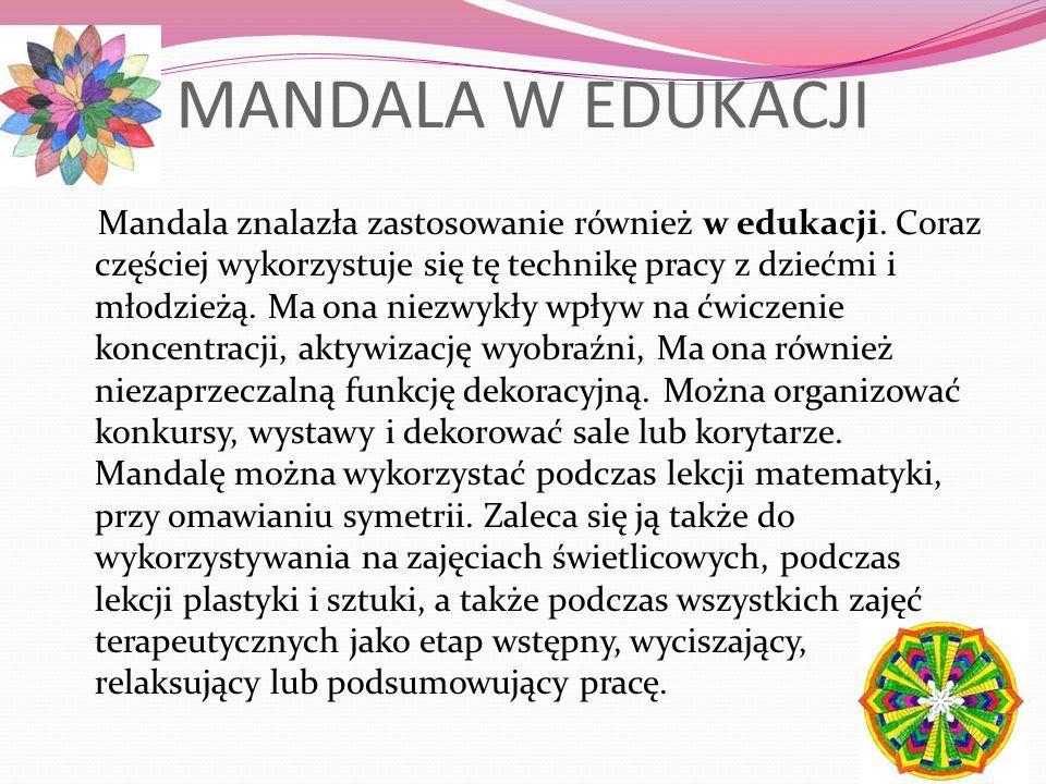 MANDALA W EDUKACJI