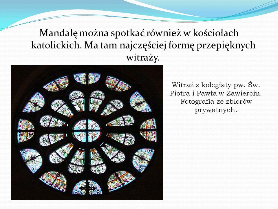 Mandalę można spotkać również w kościołach katolickich