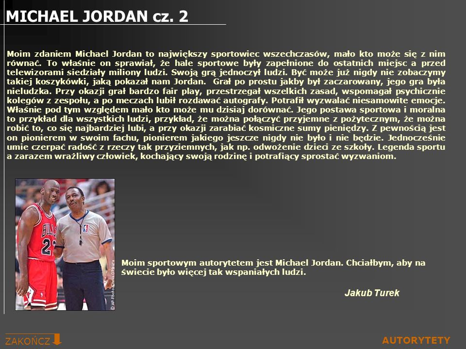 MICHAEL JORDAN cz. 2 Jakub Turek ZAKOŃCZ AUTORYTETY