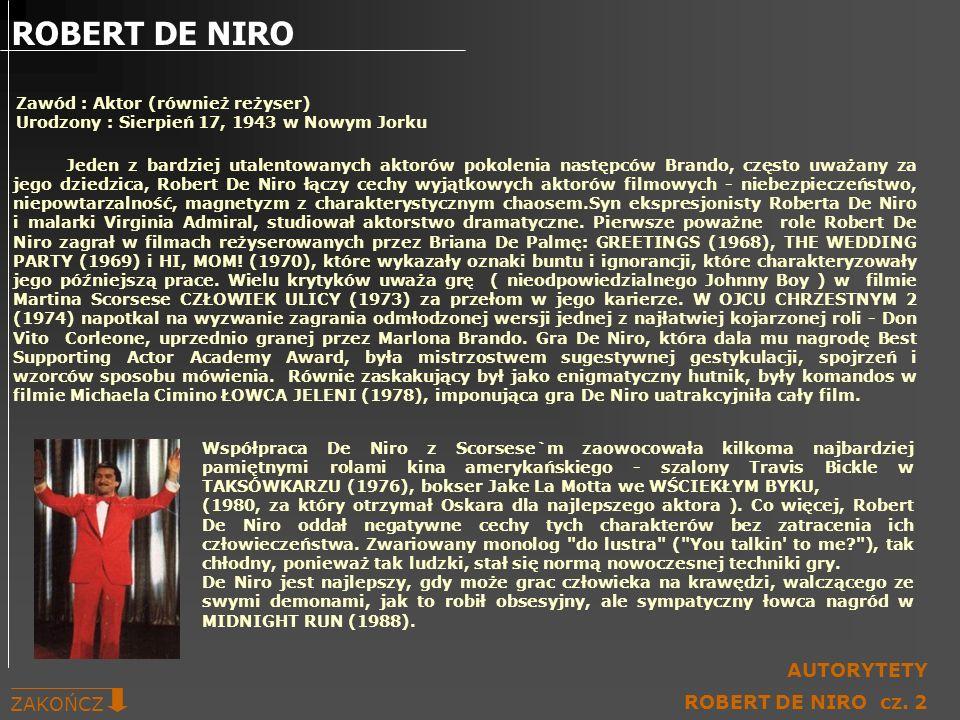 ROBERT DE NIRO AUTORYTETY ZAKOŃCZ ROBERT DE NIRO cz. 2