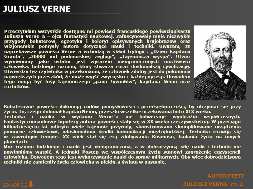 JULIUSZ VERNE AUTORYTETY ZAKOŃCZ JULIUSZ VERNE cz. 2
