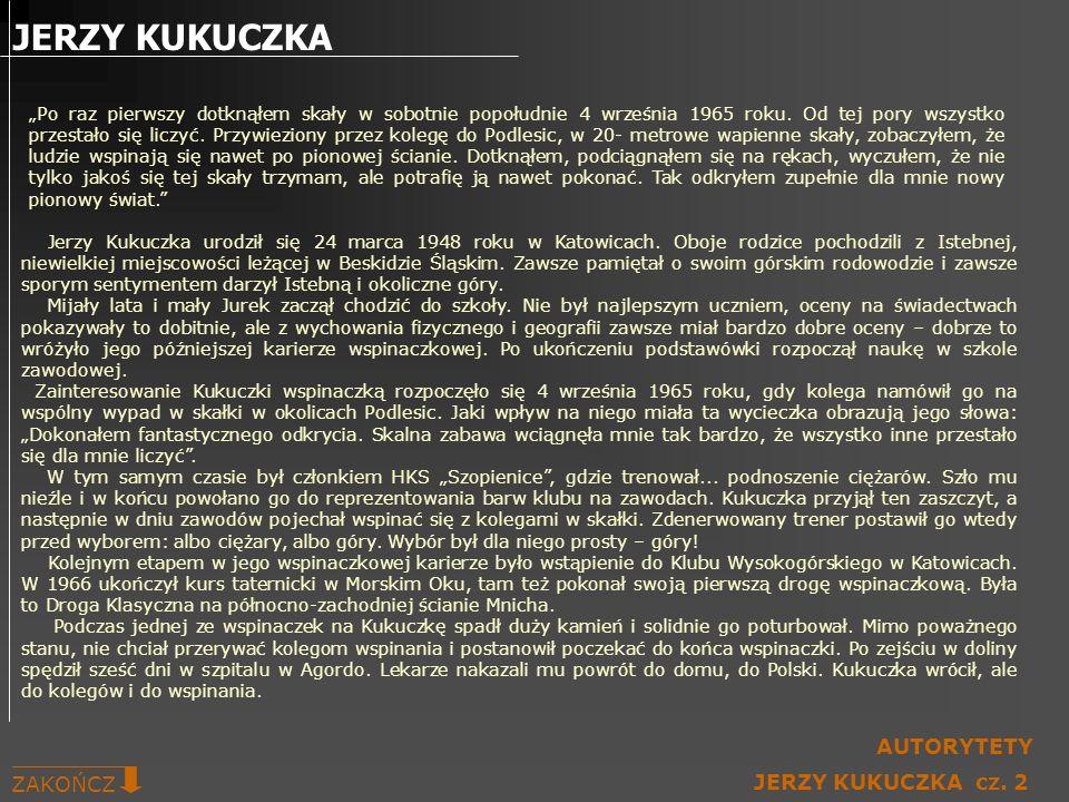 JERZY KUKUCZKA AUTORYTETY ZAKOŃCZ JERZY KUKUCZKA cz. 2