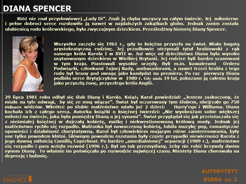 DIANA SPENCER AUTORYTETY ZAKOŃCZ DIANA cz. 2