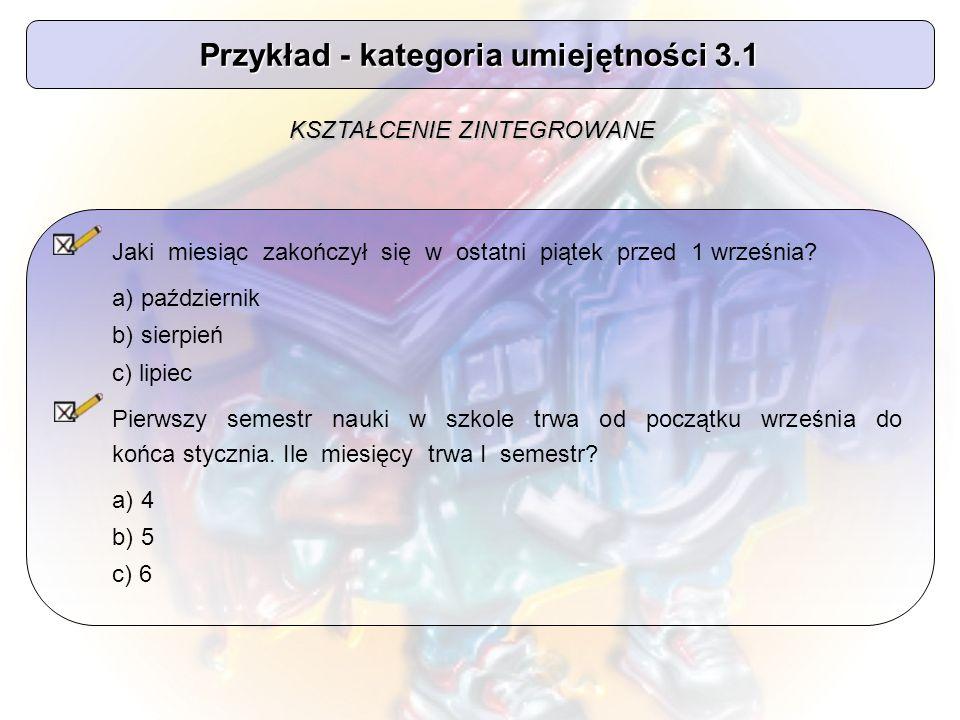 Przykład - kategoria umiejętności 3.1