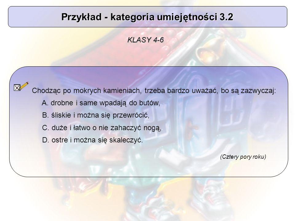 Przykład - kategoria umiejętności 3.2