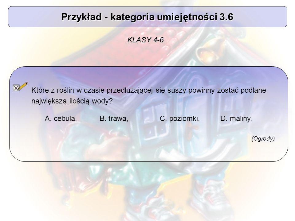 Przykład - kategoria umiejętności 3.6