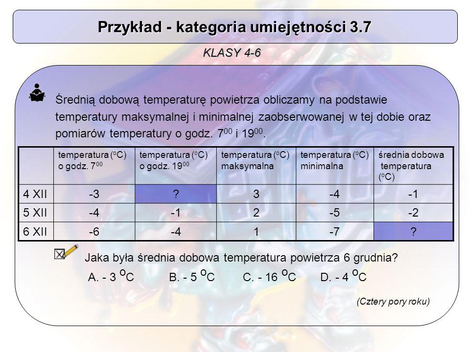 Przykład - kategoria umiejętności 3.7