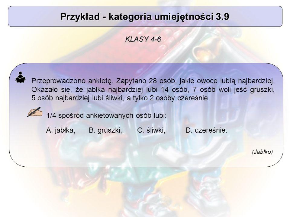 Przykład - kategoria umiejętności 3.9