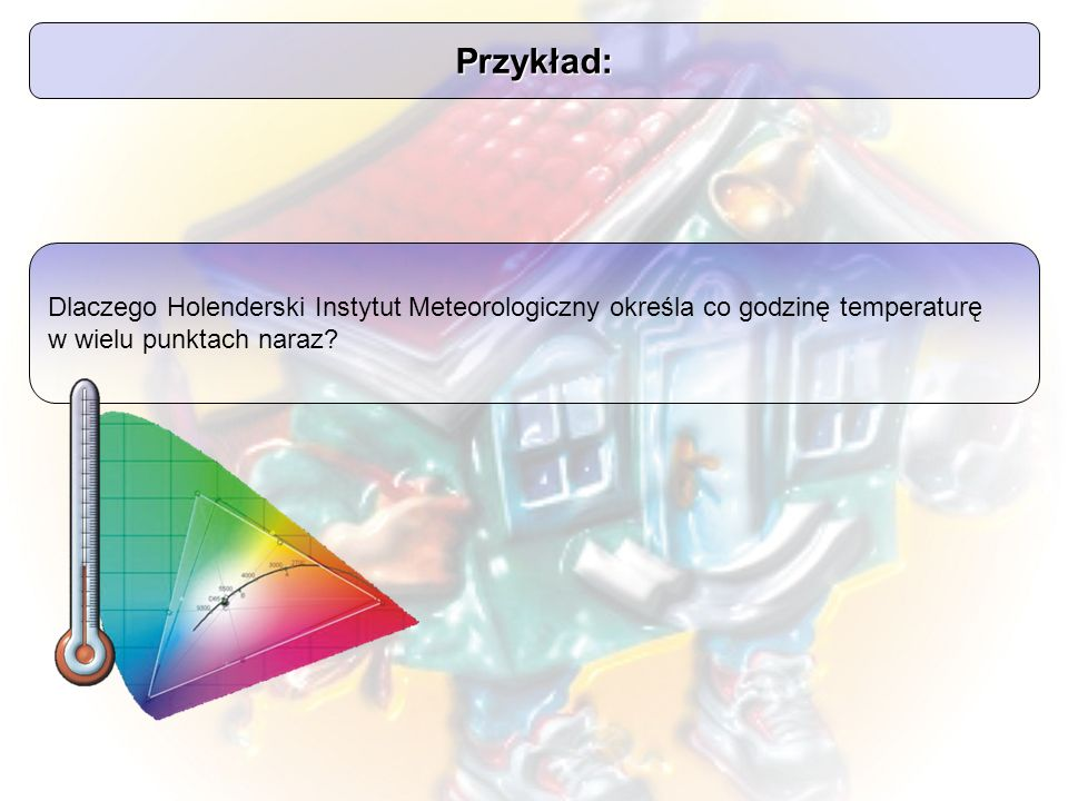 Przykład: Dlaczego Holenderski Instytut Meteorologiczny określa co godzinę temperaturę w wielu punktach naraz