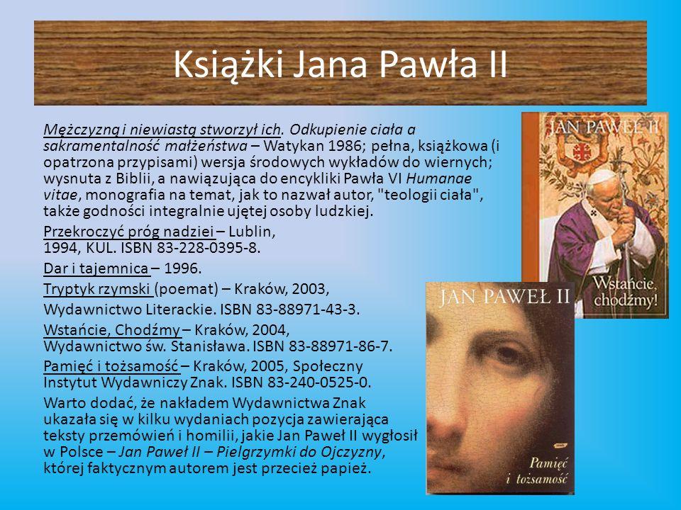 Książki Jana Pawła II