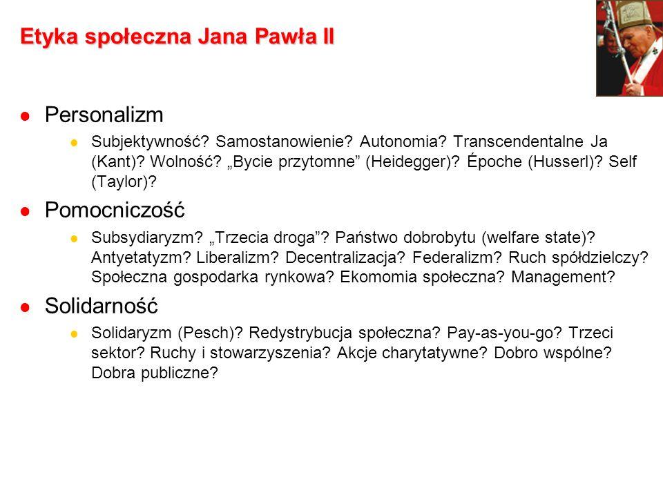 Etyka społeczna Jana Pawła II
