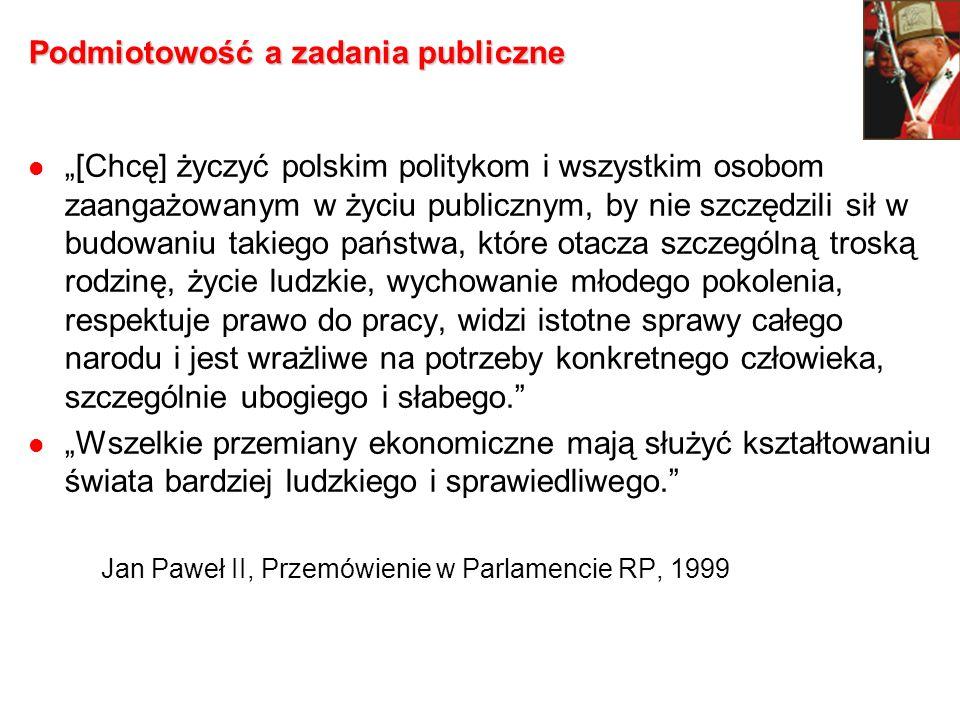 Podmiotowość a zadania publiczne