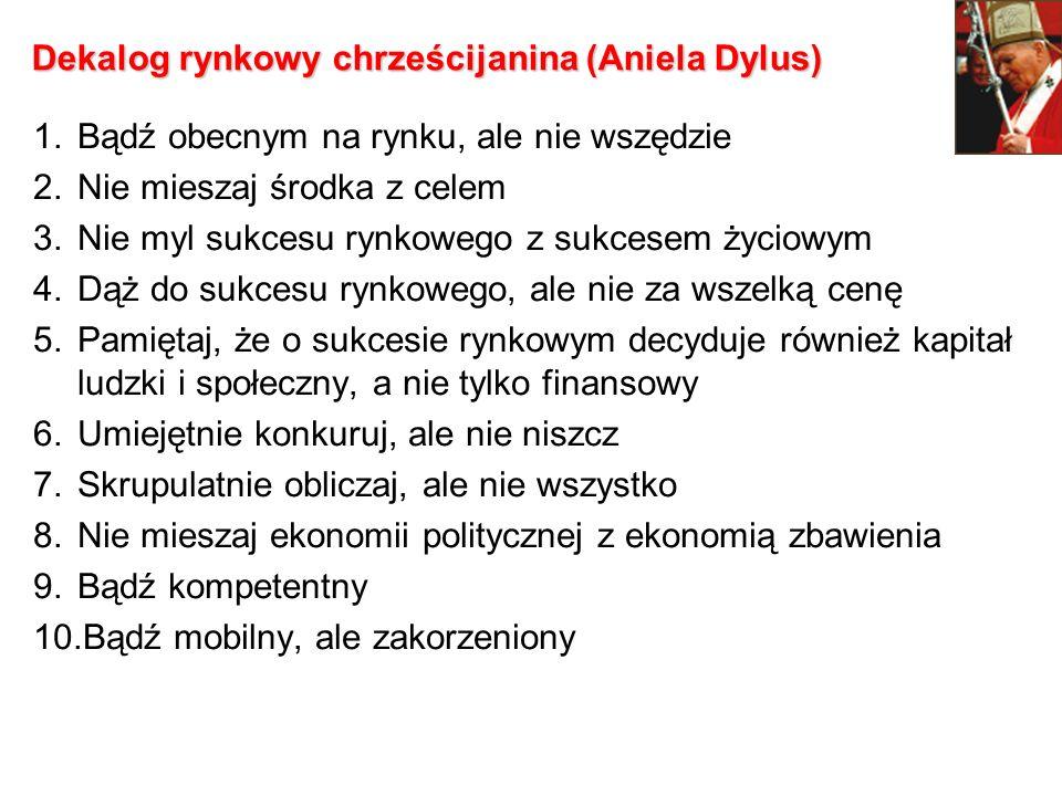 Dekalog rynkowy chrześcijanina (Aniela Dylus)