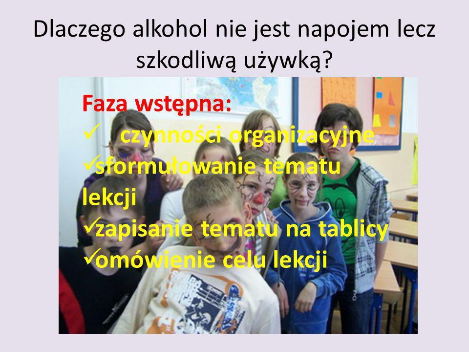 Dlaczego alkohol nie jest napojem lecz szkodliwą używką