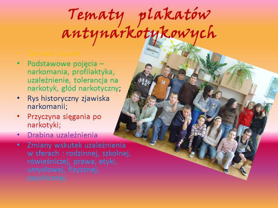 Tematy plakatów antynarkotykowych