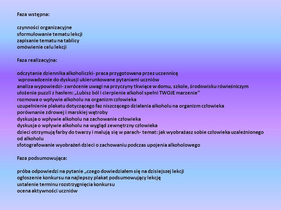 czynności organizacyjne sformułowanie tematu lekcji
