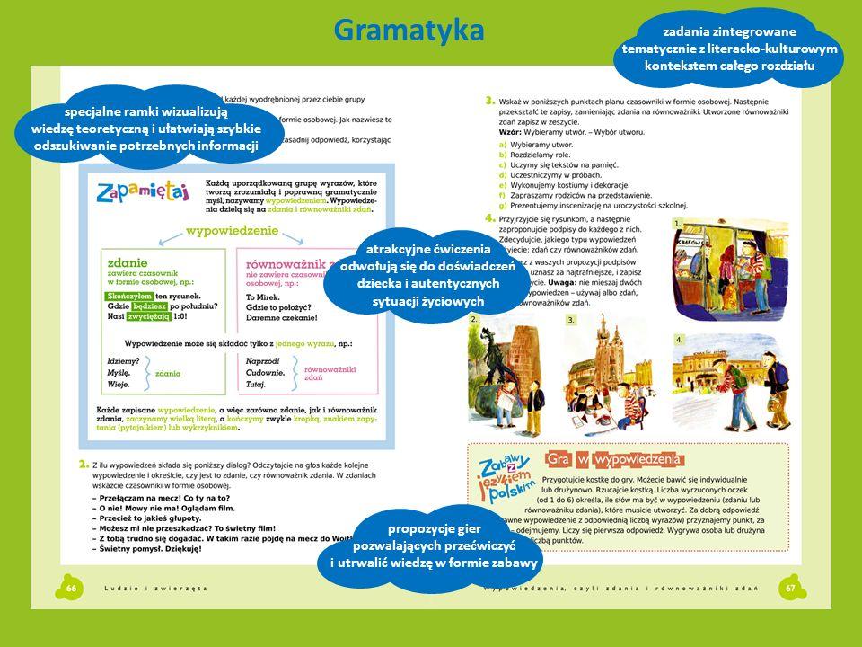 Gramatyka zadania zintegrowane tematycznie z literacko-kulturowym