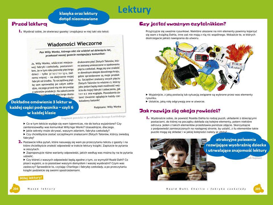 rozwijające wyobraźnię dziecka i utrwalające znajomość lektury