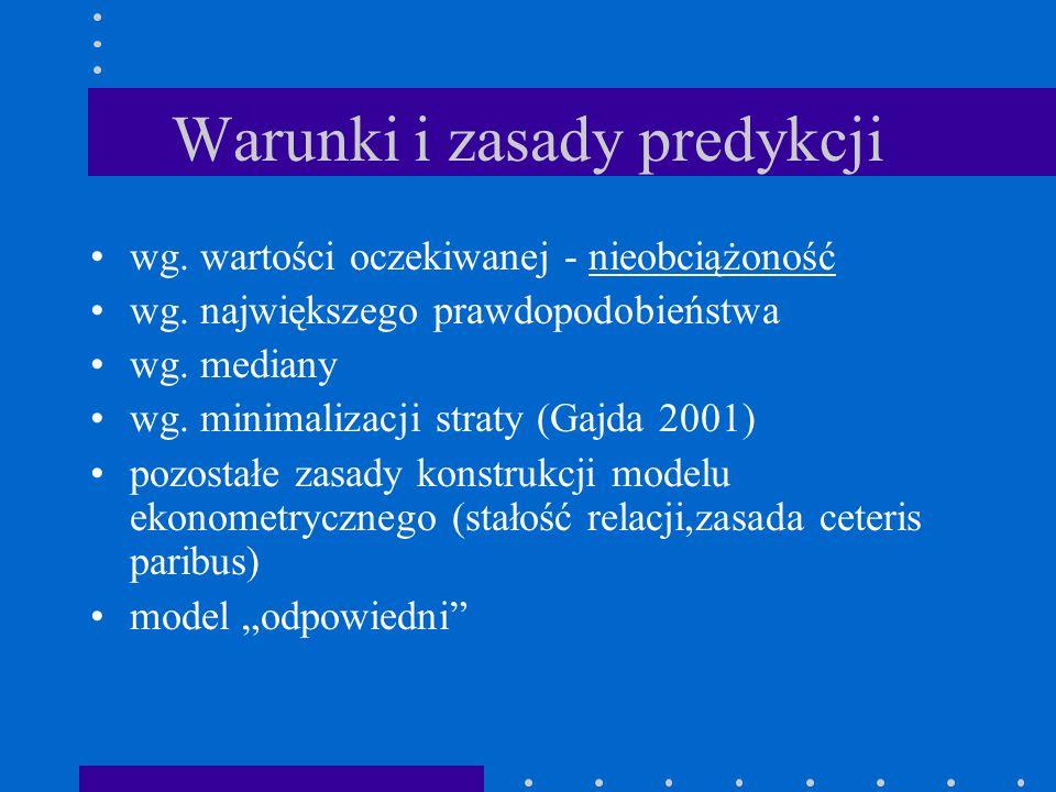 Warunki i zasady predykcji