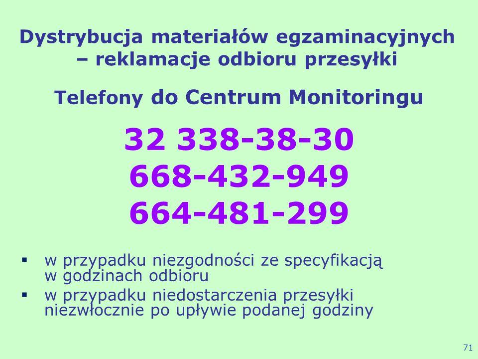 Dystrybucja materiałów egzaminacyjnych – reklamacje odbioru przesyłki