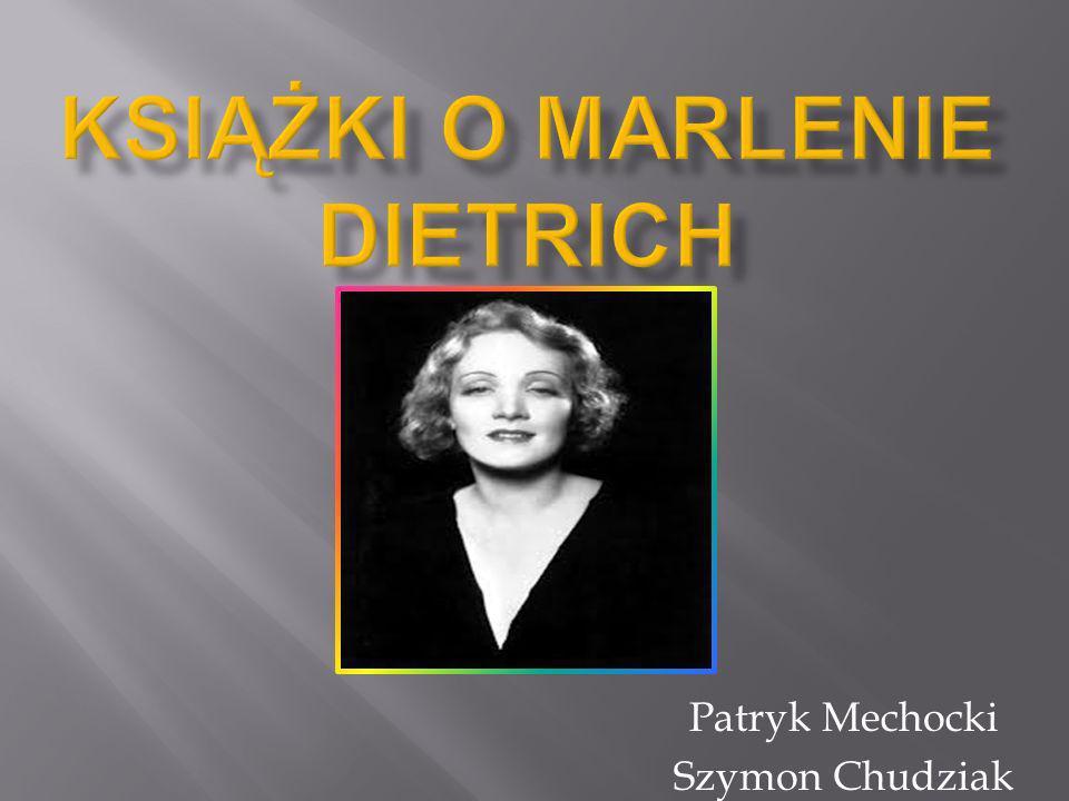 Książki o marlenie dietrich