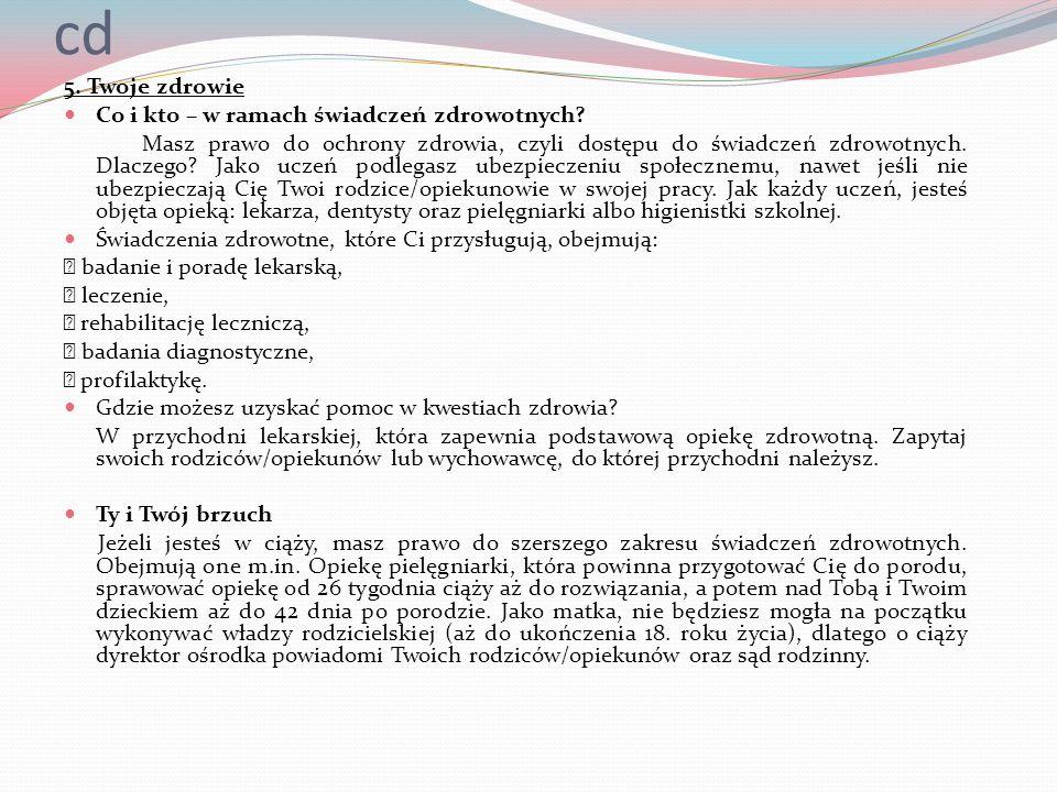 cd 5. Twoje zdrowie Co i kto – w ramach świadczeń zdrowotnych