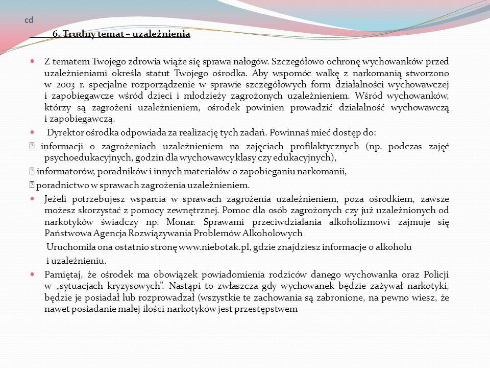 cd 6. Trudny temat – uzależnienia.