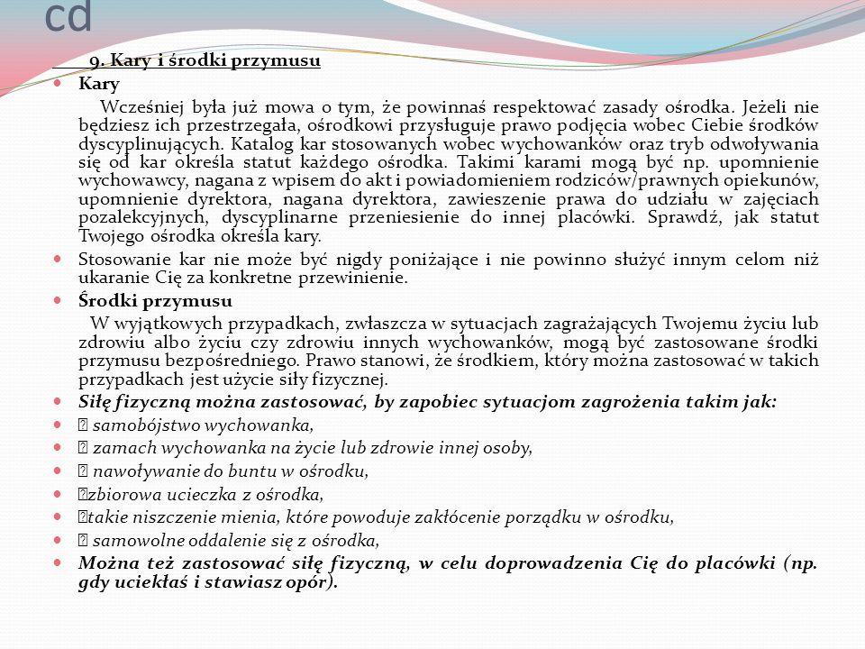 cd 9. Kary i środki przymusu Kary