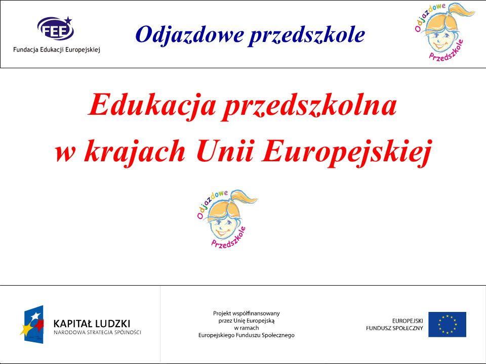 Edukacja przedszkolna w krajach Unii Europejskiej