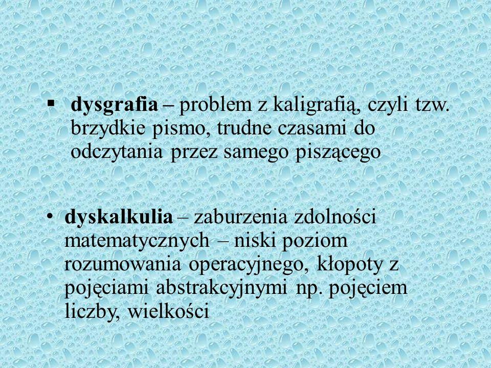 dysgrafia – problem z kaligrafią, czyli tzw