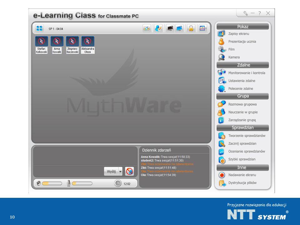 """Nauczyciel posiada możliwość wprowadzenia komputerów w """"stan ciszy blokując stanowiska uczniowskie na czas pracy bez wykorzystania komputerów np."""