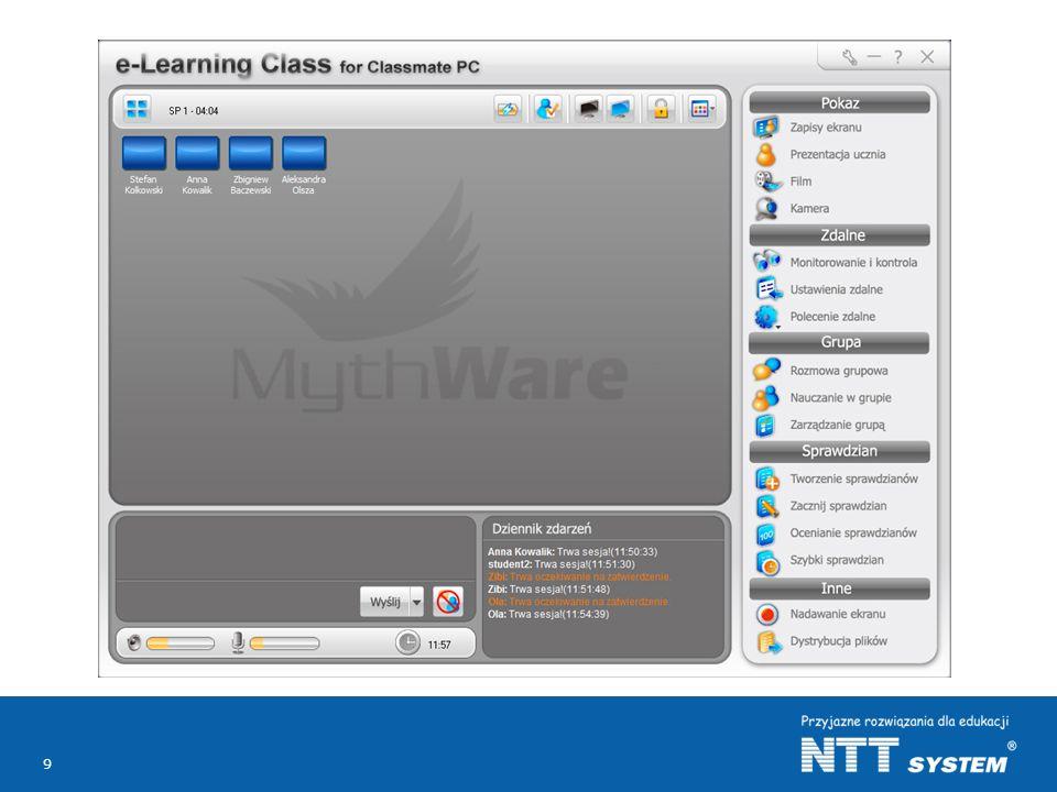 Jednym z kluczowych elementów rozwiązania jest oprogramowanie (program) nauczycielskie, które jest darmowe dla wszystkich nauczycieli do stosowania zarówno na dowolnej liczbie komputerów w szkole i na (w) komputerach prywatnych (domowych) nauczycieli.