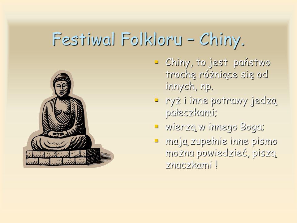 Festiwal Folkloru – Chiny.