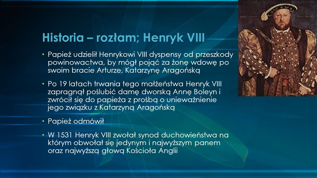 Historia – rozłam; Henryk VIII