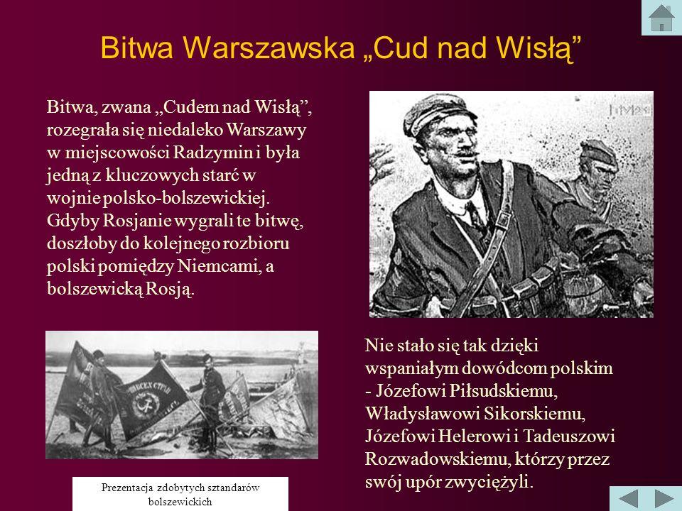 """Bitwa Warszawska """"Cud nad Wisłą"""