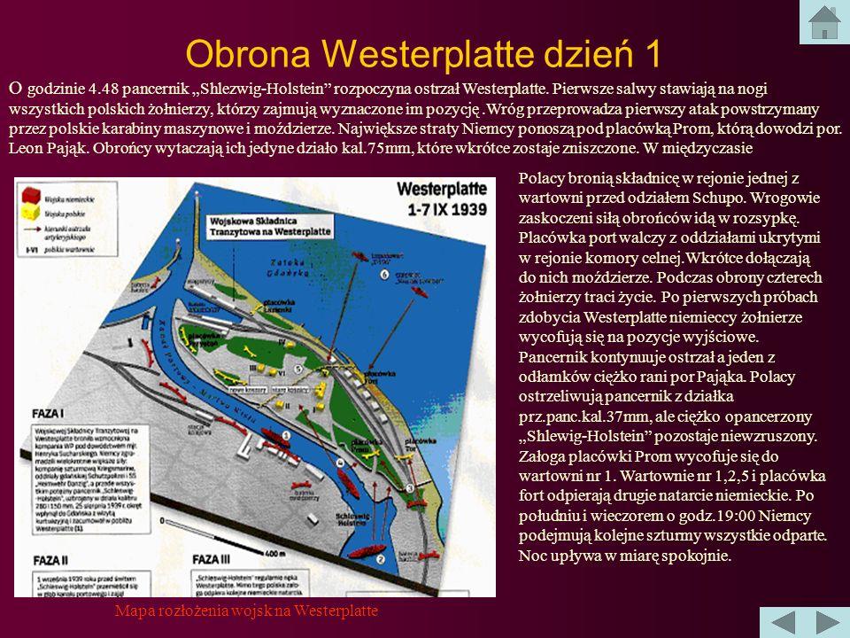 Obrona Westerplatte dzień 1