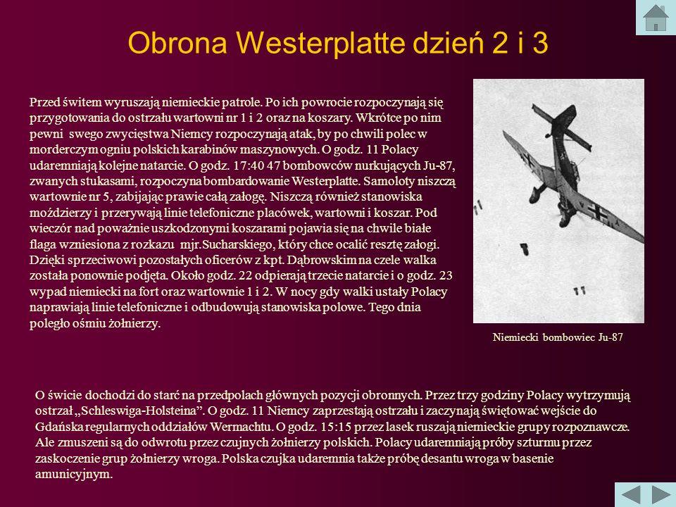 Obrona Westerplatte dzień 2 i 3