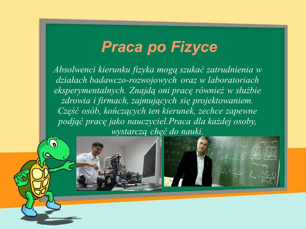 Praca po Fizyce