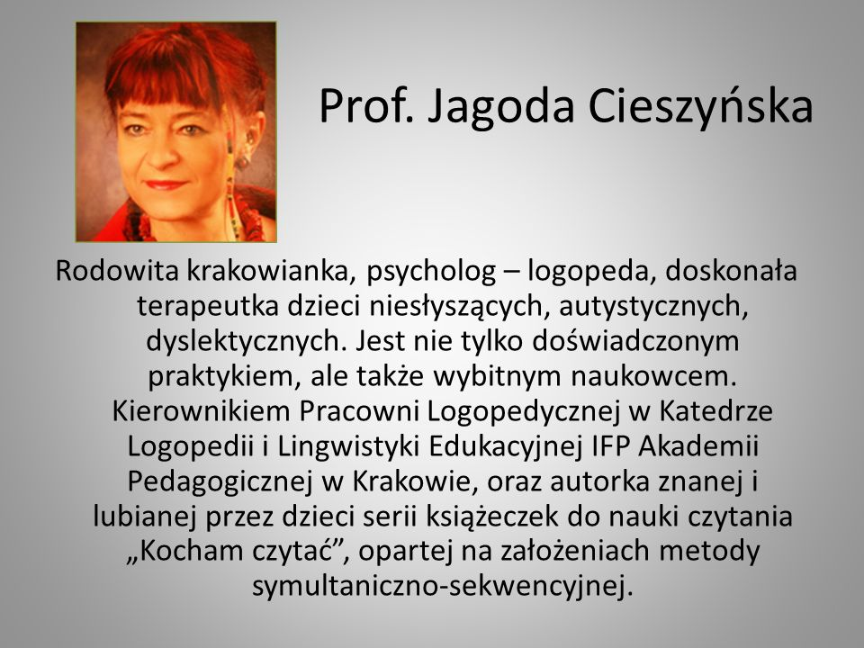 Prof. Jagoda Cieszyńska
