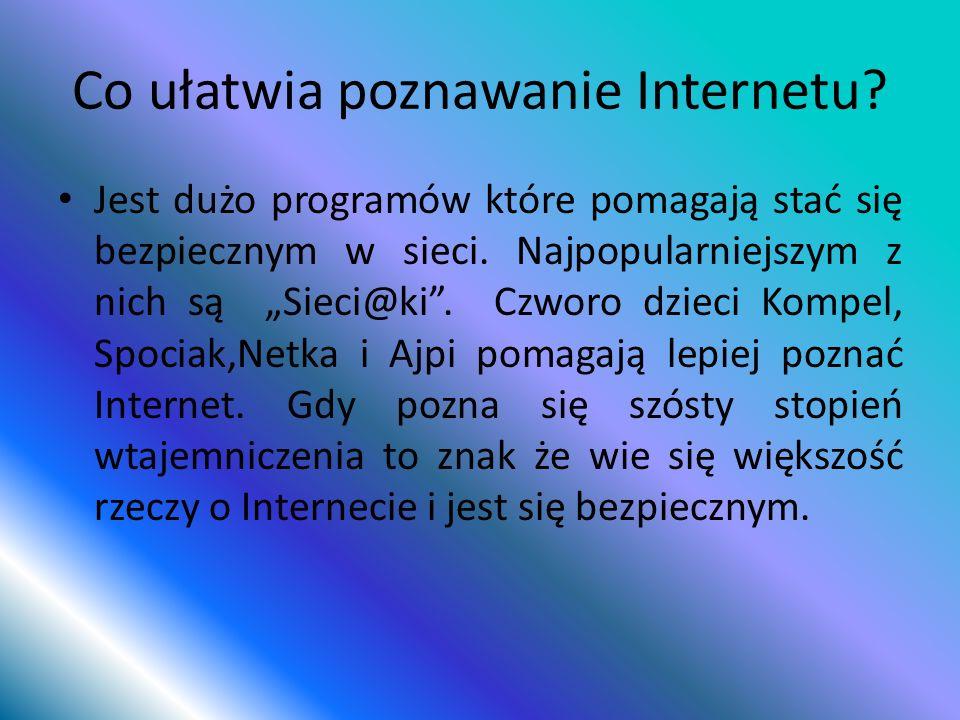 Co ułatwia poznawanie Internetu
