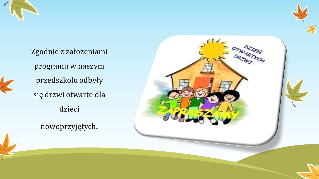Zgodnie z założeniami programu w naszym przedszkolu odbyły się drzwi otwarte dla dzieci nowoprzyjętych.