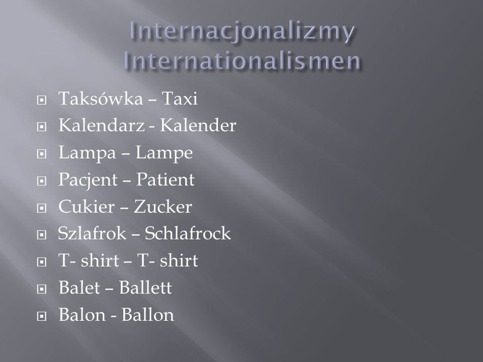 Internacjonalizmy Internationalismen