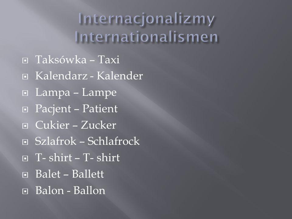 Internacjonalizmy Internationalismen