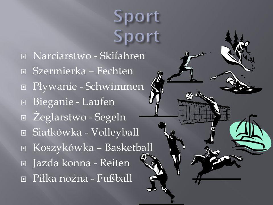 Sport Sport Narciarstwo - Skifahren Szermierka – Fechten