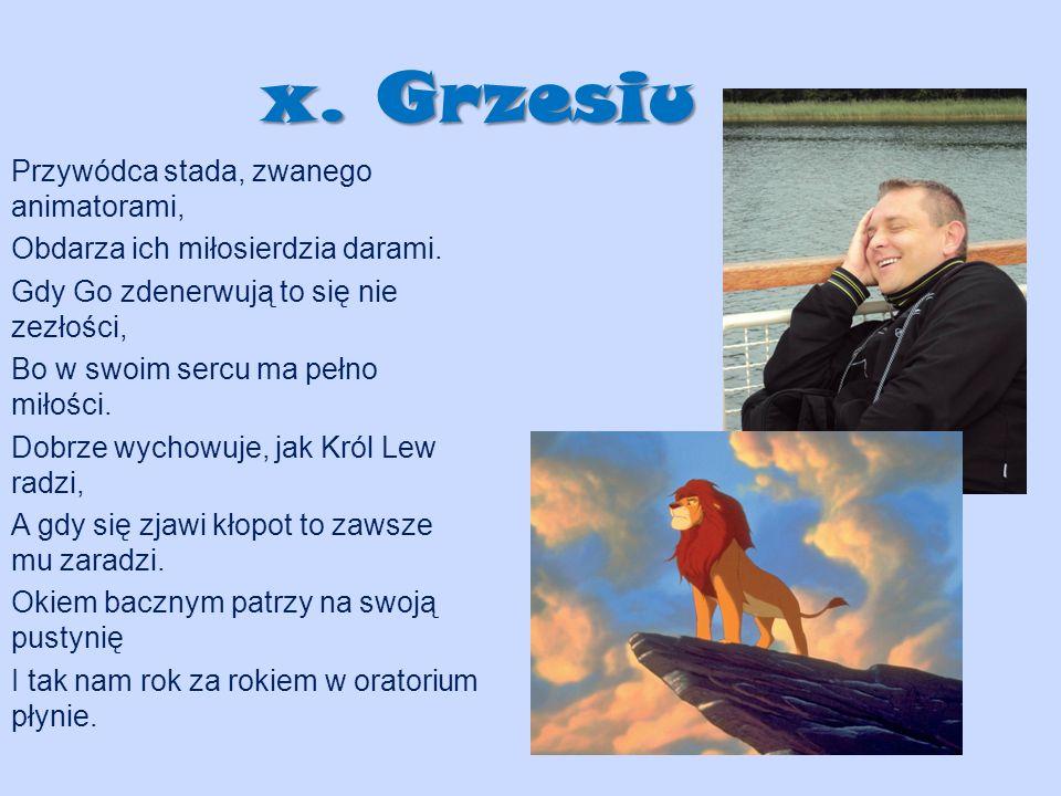 x. Grzesiu