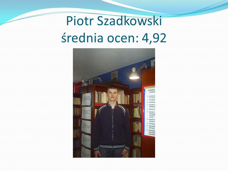 Piotr Szadkowski średnia ocen: 4,92